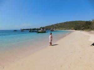 Pantai Pink Lombok atau bernama asli Pantai Tangsi